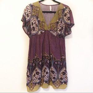 Xhilaration Paisley Dress XL